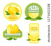 lemonade badges. lemon juice or ... | Shutterstock .eps vector #1171422238