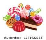 dessert illustrations.... | Shutterstock .eps vector #1171422385