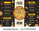 pizzeria menu template. italian ... | Shutterstock .eps vector #1171422442