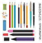 pen and pencils. office... | Shutterstock .eps vector #1171422598