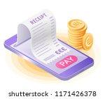 the online bill payment.... | Shutterstock .eps vector #1171426378