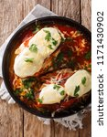tender chicken breasts topped... | Shutterstock . vector #1171430902