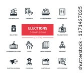 elections   flat design style... | Shutterstock .eps vector #1171437025