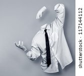 invisible man in a shirt and... | Shutterstock . vector #117144112