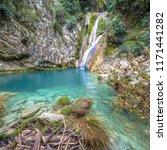 Kalamaris Waterfall In River...