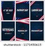 set of usa celebrations. public ... | Shutterstock .eps vector #1171450615