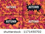 set of autumn banners with... | Shutterstock .eps vector #1171450702