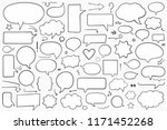 collection of hand drawn speech ... | Shutterstock .eps vector #1171452268