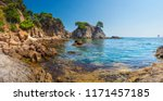spain mediterranean sea  bay in ... | Shutterstock . vector #1171457185
