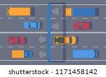 wireless automated toll... | Shutterstock .eps vector #1171458142