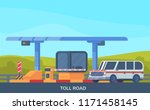 checkpoint on toll highway....   Shutterstock .eps vector #1171458145