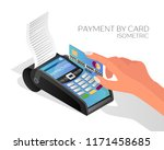 payment by credit or debit card....   Shutterstock .eps vector #1171458685