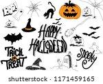 halloween doodle  hand drawn ...   Shutterstock .eps vector #1171459165
