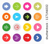 arrow sign icon set. simple... | Shutterstock .eps vector #117146032