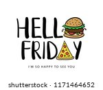 hello friday concept with...   Shutterstock .eps vector #1171464652