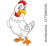 cartoon happy hen posing | Shutterstock .eps vector #1171465102