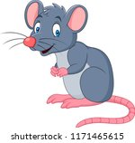 cartoon smiling mouse | Shutterstock .eps vector #1171465615