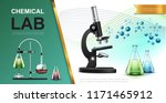 realistic laboratory chemical... | Shutterstock .eps vector #1171465912