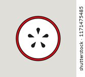 apple cut design | Shutterstock .eps vector #1171475485
