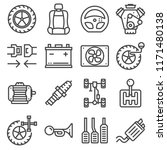 vector line car parts icons set.... | Shutterstock .eps vector #1171480138