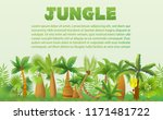 vector rainforest palm trees... | Shutterstock .eps vector #1171481722