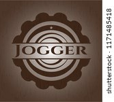 jogger wood signboards | Shutterstock .eps vector #1171485418