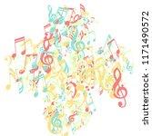 musical signs. trendy...   Shutterstock .eps vector #1171490572