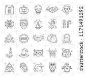 halloween icon set. thin line...   Shutterstock .eps vector #1171491292