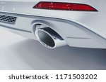 close up of a car dual exhaust... | Shutterstock . vector #1171503202