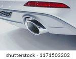 close up of a car dual exhaust... | Shutterstock . vector #1171503202