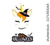 halloween unicorn character... | Shutterstock .eps vector #1171503265