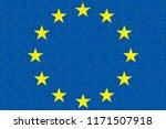 blue european union eu flag...   Shutterstock . vector #1171507918
