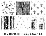 collection of seamless pattern. ... | Shutterstock .eps vector #1171511455