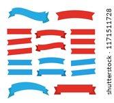 cartoon ribbon set illustration.... | Shutterstock . vector #1171511728