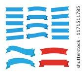 ribbons set isolated. banner... | Shutterstock . vector #1171511785