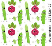 cute vector seamless pattern... | Shutterstock .eps vector #1171526422