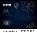 spider cobwebs various forms... | Shutterstock . vector #1171532422