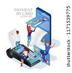 payment by credit or debit card.... | Shutterstock .eps vector #1171539775