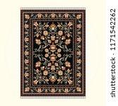 persian carpet with dark... | Shutterstock .eps vector #1171542262