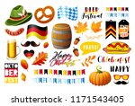 set of oktoberfest vector... | Shutterstock .eps vector #1171543405