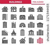 buildings icons. professional ... | Shutterstock .eps vector #1171544455