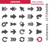 arrows icons. professional ... | Shutterstock .eps vector #1171544458