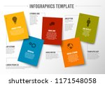 vector minimalist colorful... | Shutterstock .eps vector #1171548058