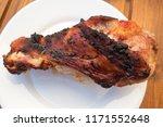 appetizing roast turkey shank...   Shutterstock . vector #1171552648