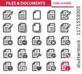 files   documents icons.... | Shutterstock .eps vector #1171553005