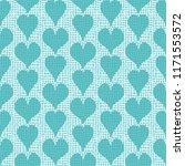vector hand drawn blue hearts... | Shutterstock .eps vector #1171553572