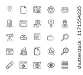 collection of 25 search outline ... | Shutterstock .eps vector #1171554235