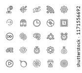 collection of 25 circle outline ...   Shutterstock .eps vector #1171556692