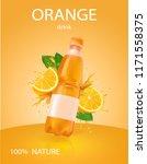 orange bottled drink  juice... | Shutterstock .eps vector #1171558375