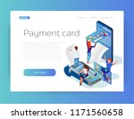 payment by credit or debit card.... | Shutterstock .eps vector #1171560658